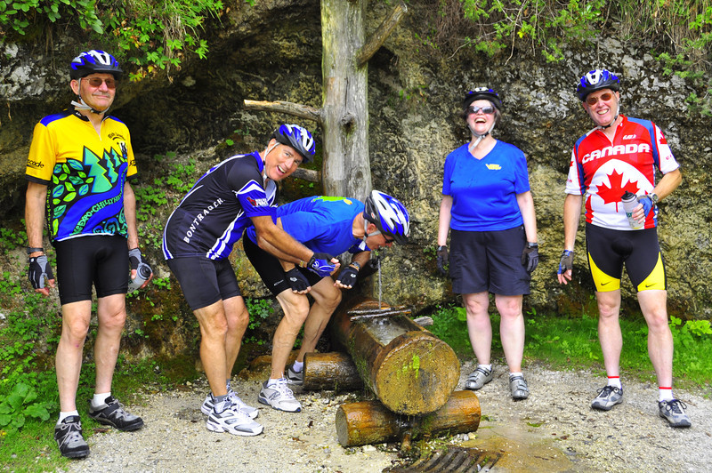 spring water stop. Jack, leave some for the rest of us!