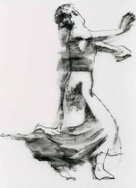 Study for White Skirt on Grey (2003)