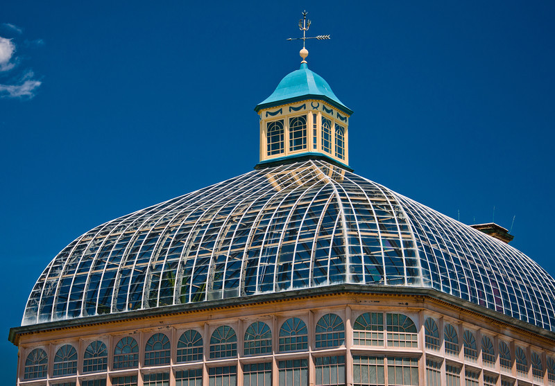 Top of Howard Peter Rawlings Conservatory, Baltimore, Maryland