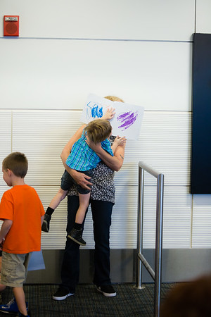 Detroit International Adoption Homecoming Airport Arrival for Wendamagn