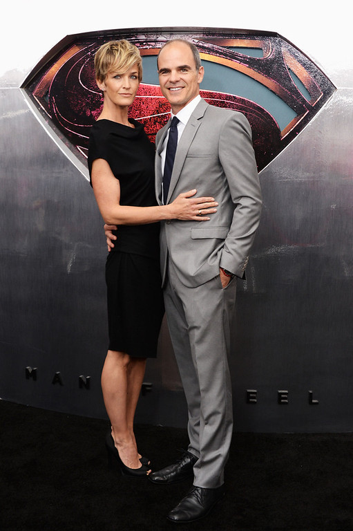 ". Actress Robin Wright and Actor Michael Kelly attend the ""Man Of Steel\"" world premiere at Alice Tully Hall at Lincoln Center on June 10, 2013 in New York City.  (Photo by Andrew H. Walker/Getty Images)"