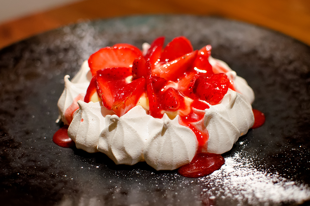 Strawberry and lemon meringue - Landscape