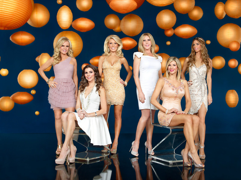 . THE REAL HOUSEWIVES OF ORANGE COUNTY -- Season 8 -- Pictured: (l-r) Tamra Barney, Heather Dubrow, Gretchen Rossi, Vicki Gunvalson, Alexis Bellino, Lydia McLaughlin -- (Photo by: Alex Martinez/Bravo)