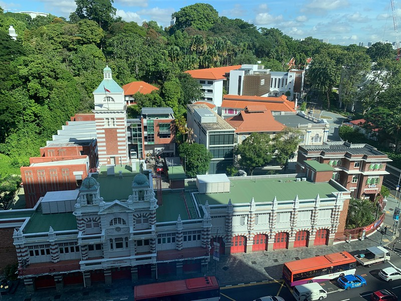 View of the fire station and Singapore archives