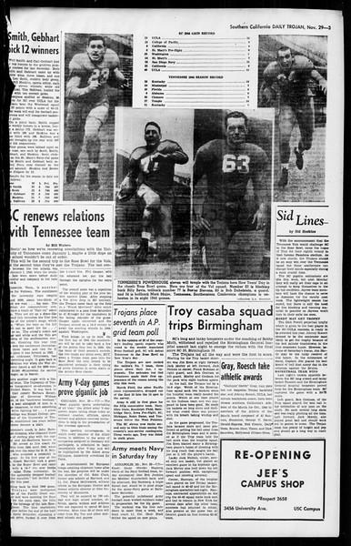 Daily Trojan, Vol. 36, No. 16, November 29, 1944