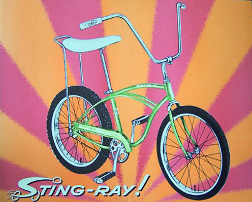 Vintage Schwinn Stingray poster