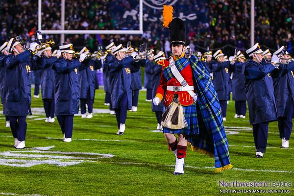 The @NotreDameBand's Irish Guard at Northwestern University
