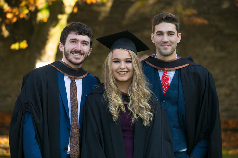 01/11/2018. Waterford Institute of Technology (WIT) Conferring Ceremonies 2018. Pictured are Orla Fahey, Adam Doheny Waterford and Jack O'Sullivan Cork. Picture: Patrick Browne