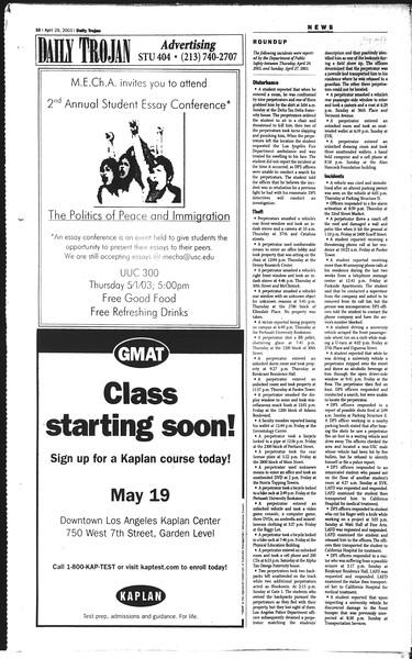 Daily Trojan, Vol. 148, No. 65, April 29, 2003