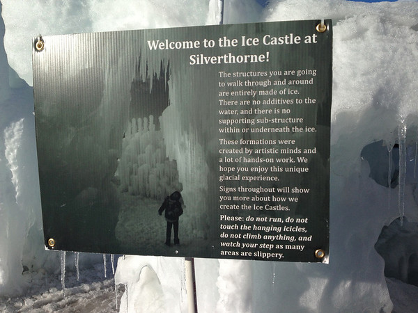 Silverthorne Ice Castle Feb 2012