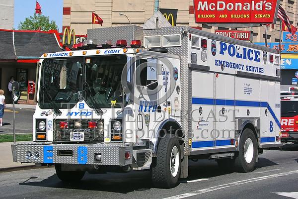 NYPD ESU Trucks 1 & 8 - May 2006