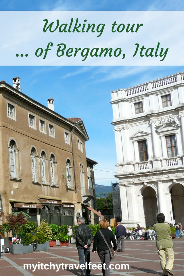Tips for taking a walking tour of Bergamo, Italy. Add this charming town filled with history, culture and food to your Italy road trip plans.