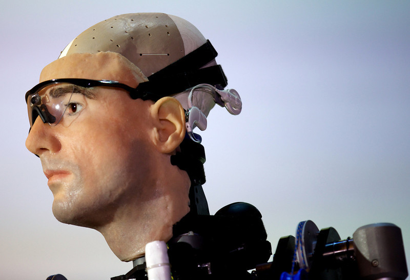 ". A picture shows ""Rex\"", the world\'s first \""bionic man\"", during a photo call at the Science Museum in London on February 5, 2013. The 640,000 GBP (1 million US dollars) humanoid has a distinctly human shape and boasts prosthetic limbs, a functional artificial blood circulatory system complete with artificial blood, as well as an artificial pancreas, kidney, spleen and trachea. Rex will be displayed at the Science Museum from February 7.  ANDREW COWIE/AFP/Getty Images"