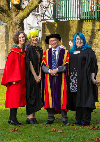 01/11/2017. Waterford Institute of Technology Conferring. Pictured with Prof. Willie Donnelly, President of WIT are Natasha Everitt from Waterford and Natasha Guinan from Waterford who graduated Bachelor of Arts Hons. Picture: Patrick Browne