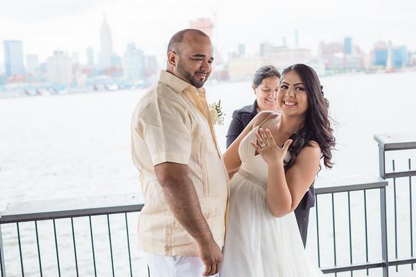 Hoboken Piers Wedding - Michelle & Joan