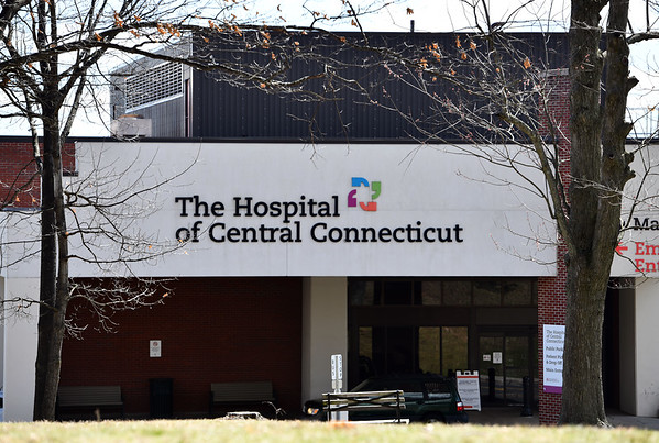 4/4/2020 Mike Orazzi | StaffrThe Hospital of Central Connecticut in New Britain on Saturday.