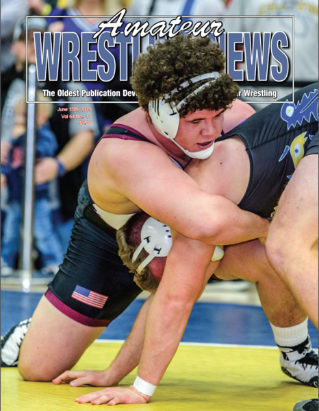 Amateur Wrestling News Cover, June, 2019
