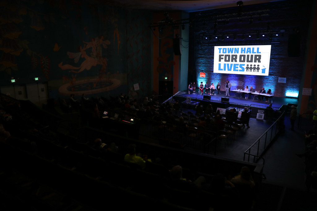 . Town Hall for our Lives, April 7, 2018, in Chico, California. (Carin Dorghalli -- Enterprise-Record)