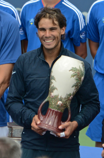 Rafael Nadal with Rookwood trophy