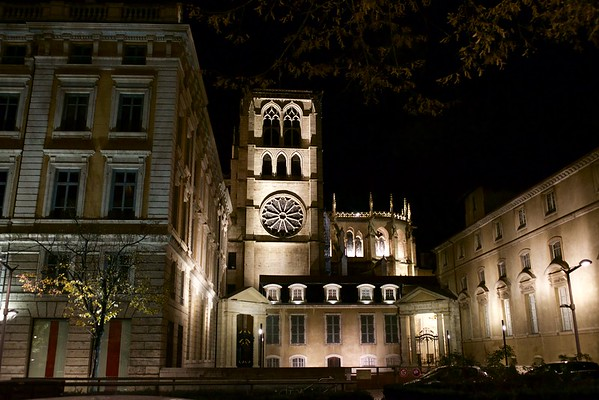 Lyon France Night Walk