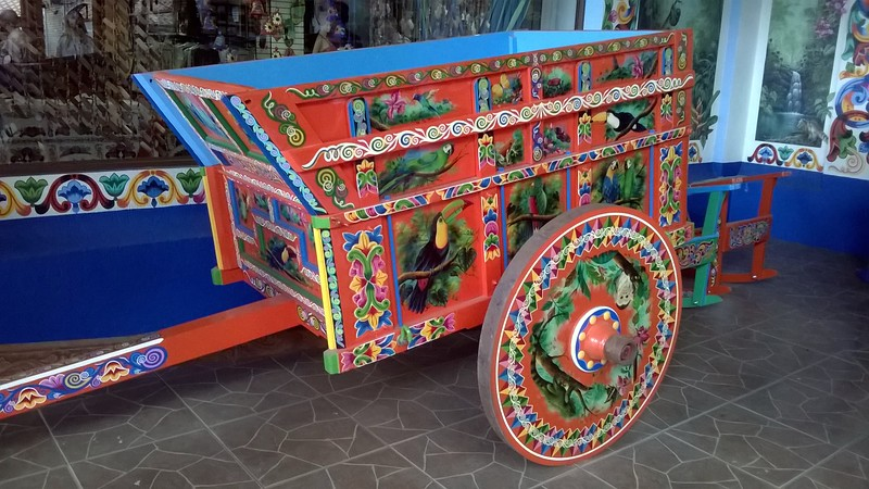 These carts began as transport for the coffee beans and now used everywhere as a Costa Rican symbol.
