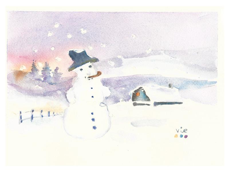 No.362 Un grand bonhomme de neige poursuivi par le froid.jpg