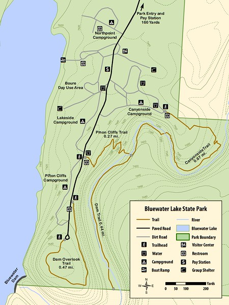 Bluewater Lake State Park (Trail Map)