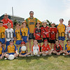 Pictured are under 10 boys  who attended the Down GAA summer Cool Camp in Jack Mackin park. Also pictured are trainers, Maria Fox, Anthony Sloan, Benny Coulter and Raymond Tumility.