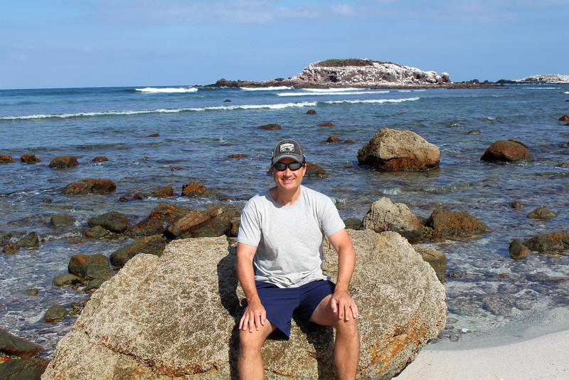 Enjoying the beach at the St. Regis.