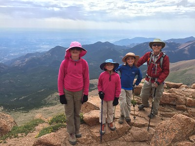 Pikes Peak - up the Cog, down the Barr Trail - July 11, 2017