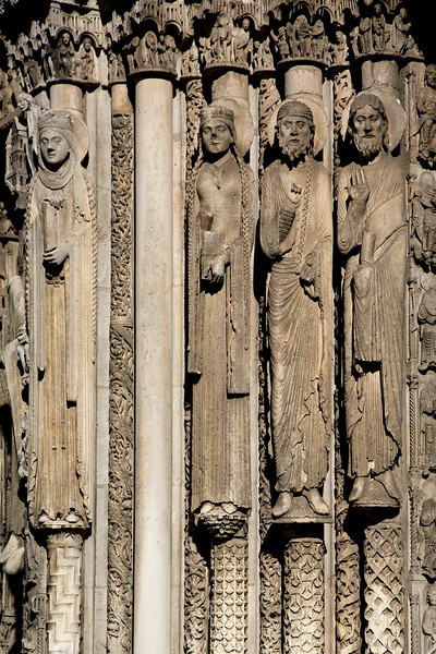 Chartres Cathedral West Facade Kings and Queens of Judah