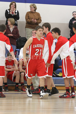 Boys Basketball, Cardinal vs Danville 1/24/2013