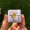 3.00ct Yellow Orange Sapphire Solitaire 69