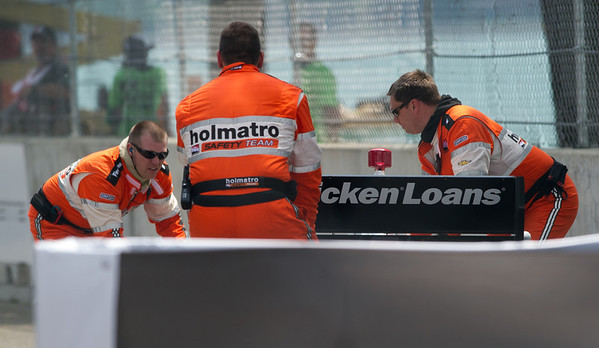 Allmendinger's (#2) Indy Car Towed, 2013