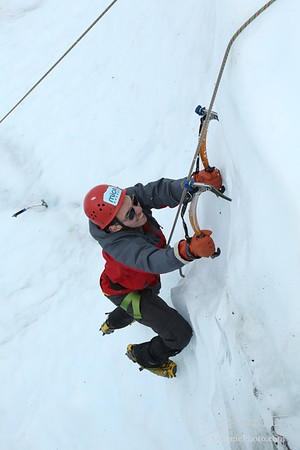 Ice Climbing with Sam and Lizzie