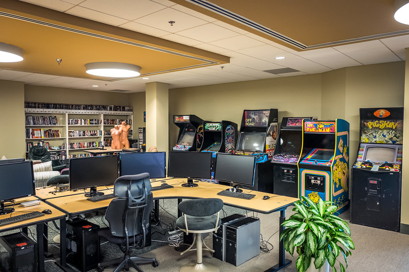 The gaming room. Epic Games HQ, Cary