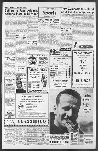 Daily Trojan, Vol. 54, No. 87, March 22, 1963