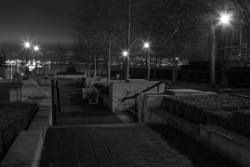 Coal Harbour walk way.