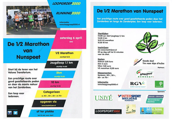 Half Marathon Nunspeet 2013