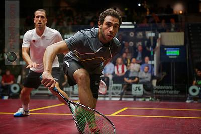 2012 U.S. Open Men's Quarterfinal: Ramy Ashour (Egypt) defeated Peter Barker (England)