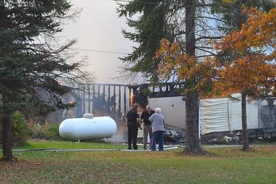10-28-14 Coshocton FD Garage Fire