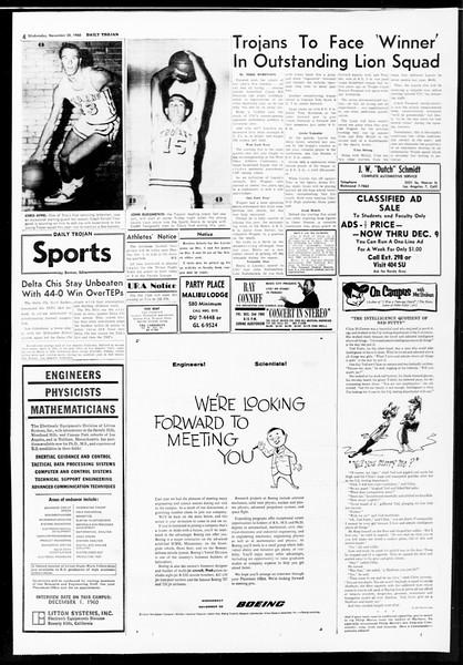 Daily Trojan, Vol. 52, No. 49, November 30, 1960