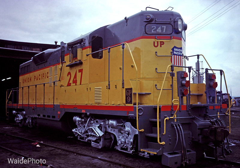 Lewiston, Idaho 1980.<br /> <br /> #247 had just been returned to the Camas Prairie RR after being shopped and painted.