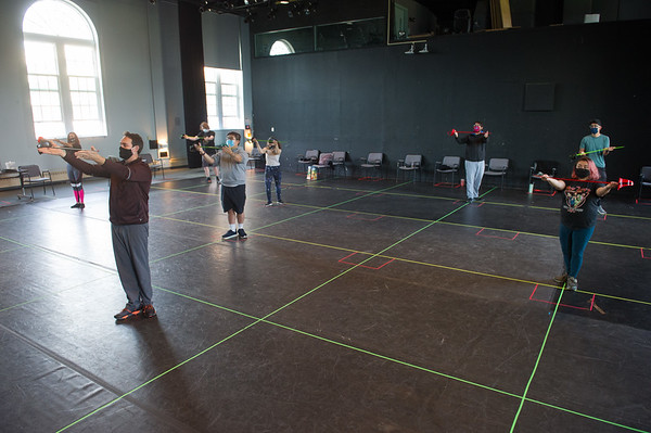 11/6/20 BSCene: Students in Stage Combat II Theater Class