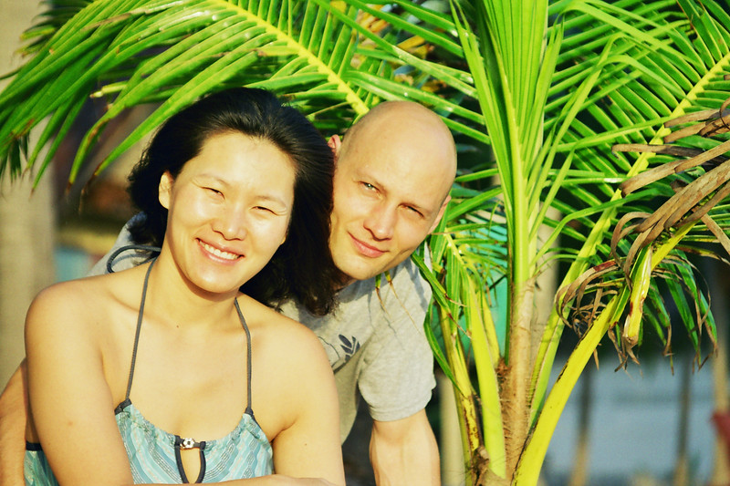 2002 December MiJung and Rick Morning on Samui Thailand.jpg
