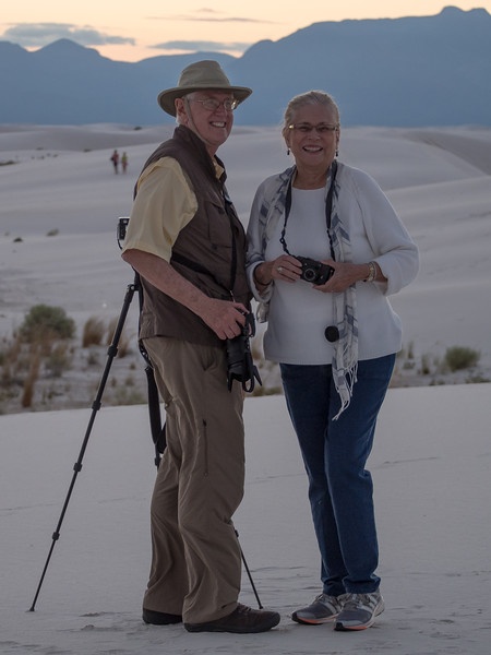 Duane and Judy on location at Whhite Sands
