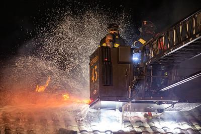Roundup Road Barn Fire