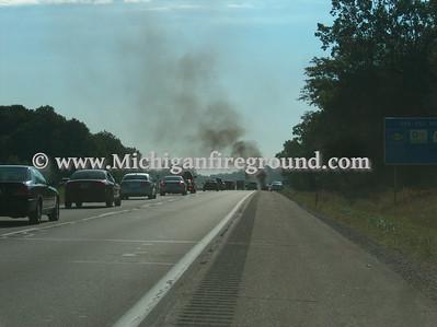 8/9/08 - Delhi Twp car fire, Eastbound I-96 mile marker 109