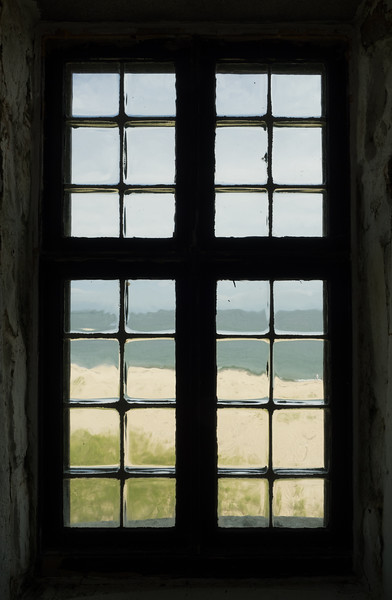 Window inside the Great Point Lighthouse