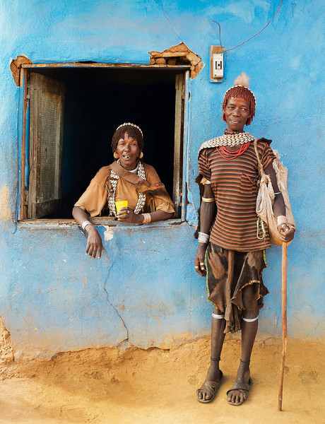 Hamar women can often be seen drinking sorghum beer in bars found in Turmi. Home to many of the Hamar people, Turmi has a weekly market on Mondays. One product available at this market is incised gourds, used by local women as shopping baskets. Turmi is also notable for its traditional dances and the Jumping of the Bulls.